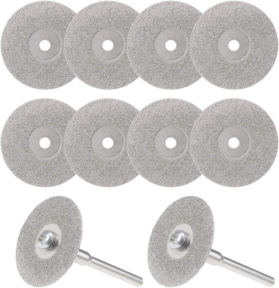 Discos de corte con 2 unidades de Mandriles 10 unidades 25 mm sourcing map Ruedas de corte de diamante