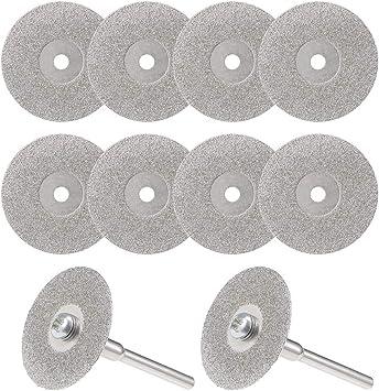 "10pcs 50mm 2/"" Diamond Coated Rotary Cutting Cut Off Wheels Disc"