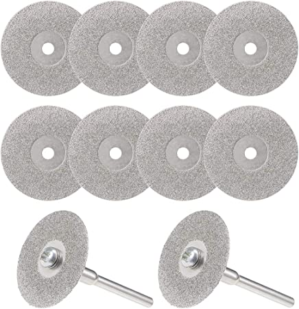 7//8 As picture show 10+2 Diamond Cut-off Wheels Rotary Tool Accessory Kit Abrasive Disc Mandrel