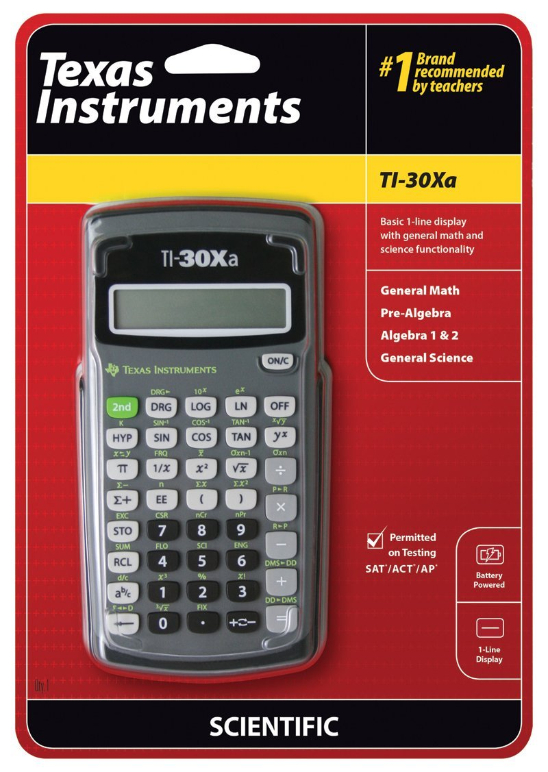 Amazon texas instruments ti 30xa scientific calculator amazon texas instruments ti 30xa scientific calculator electronics falaconquin