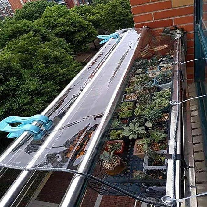 Lona resistente al agua pesada La resistencia del metal lona impermeable for trabajo pesado de la cortina transparente Patio cubierta a prueba de lluvia sombra de tela de PVC de alta temperatura