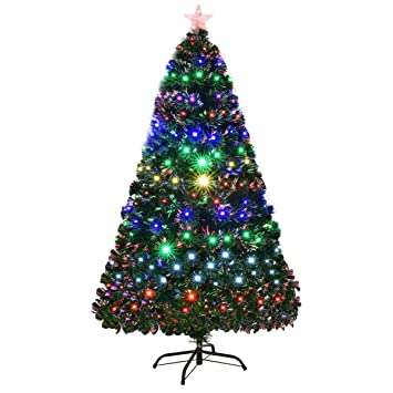 Amazon.com: Goplus Árbol de Navidad artificial preiluminado ...