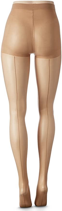 1940s Stockings: Hosiery, Nylons, and Socks History Tonal Backseam Pantyhose $11.00 AT vintagedancer.com