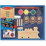 Melissa & Doug 14576 - Decora a tu gusto: tren de madera