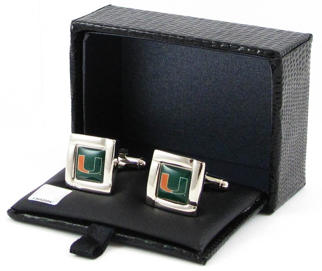 Miami Hurricanes - NCAA Team Logo Cufflinks Aminco