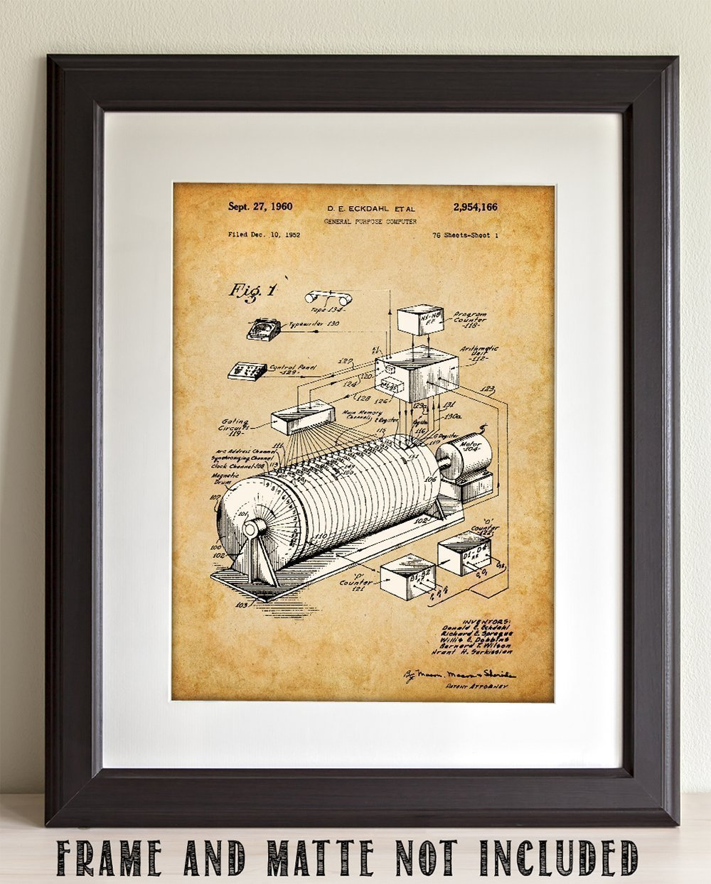 Eckdahl Computer 1960 Patent - 11x14 Unframed Patent Print - Great Gift for IT Professionals, Programmers and Geeks by Personalized Signs by Lone Star Art (Image #2)
