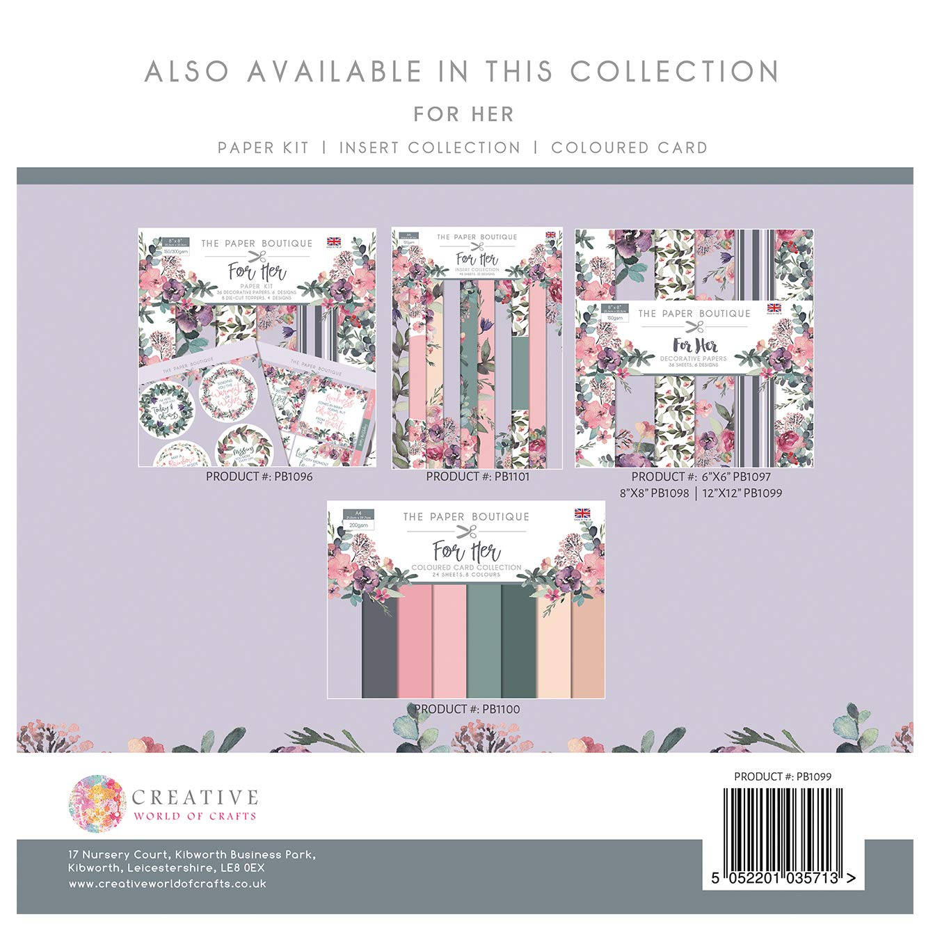 The Paper Boutique For Her 12x12 Paper Pad