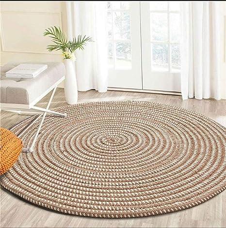 yunteng-rug lavorato a maglia con una corda rotondo tappeto per ...