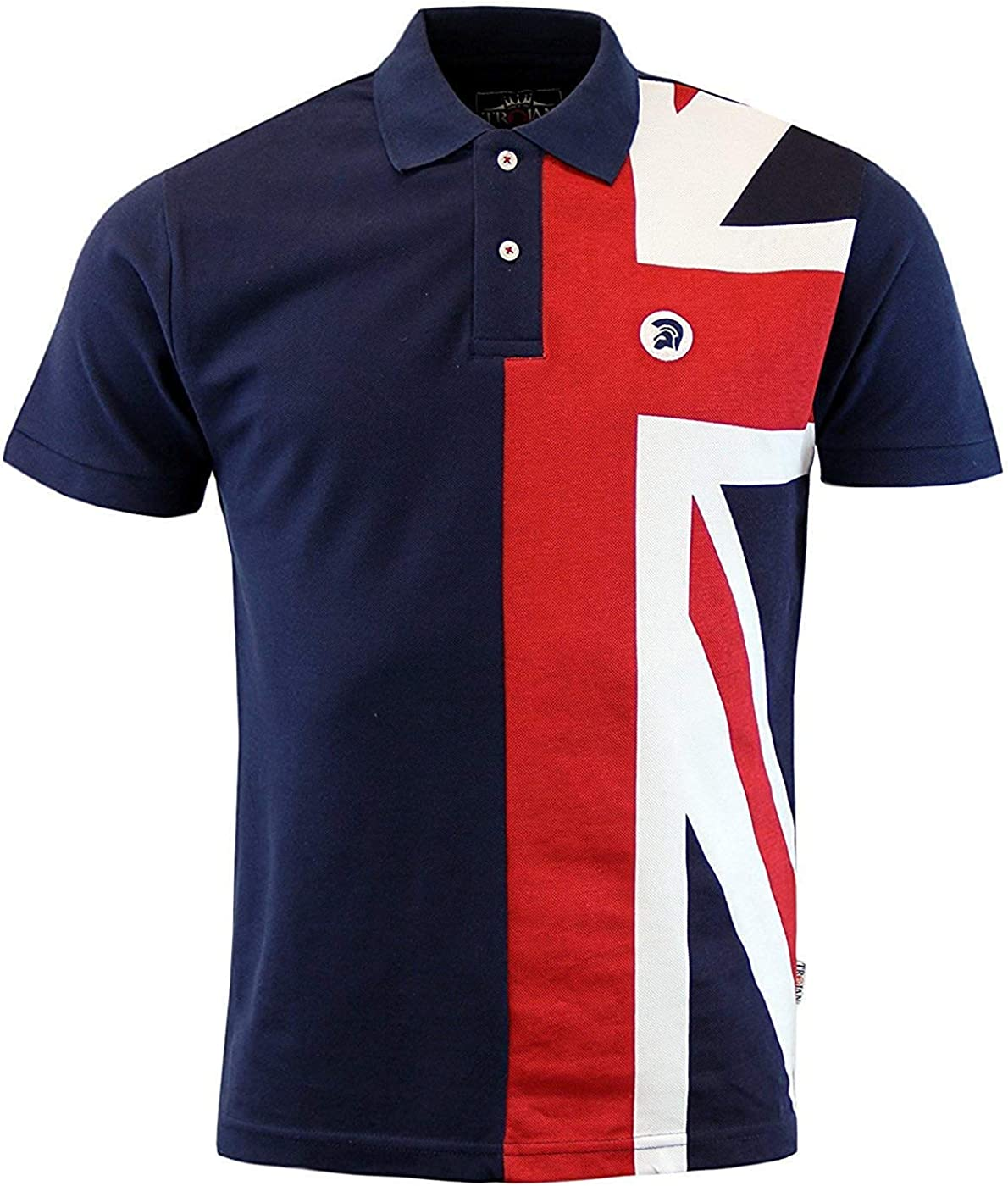 Trojan Records - Polo - para Hombre Azul Azul Marino Small: Amazon ...