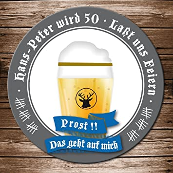 50 Echte Bierdeckel Einladung Geburtstag Motiv Bierglas Prost