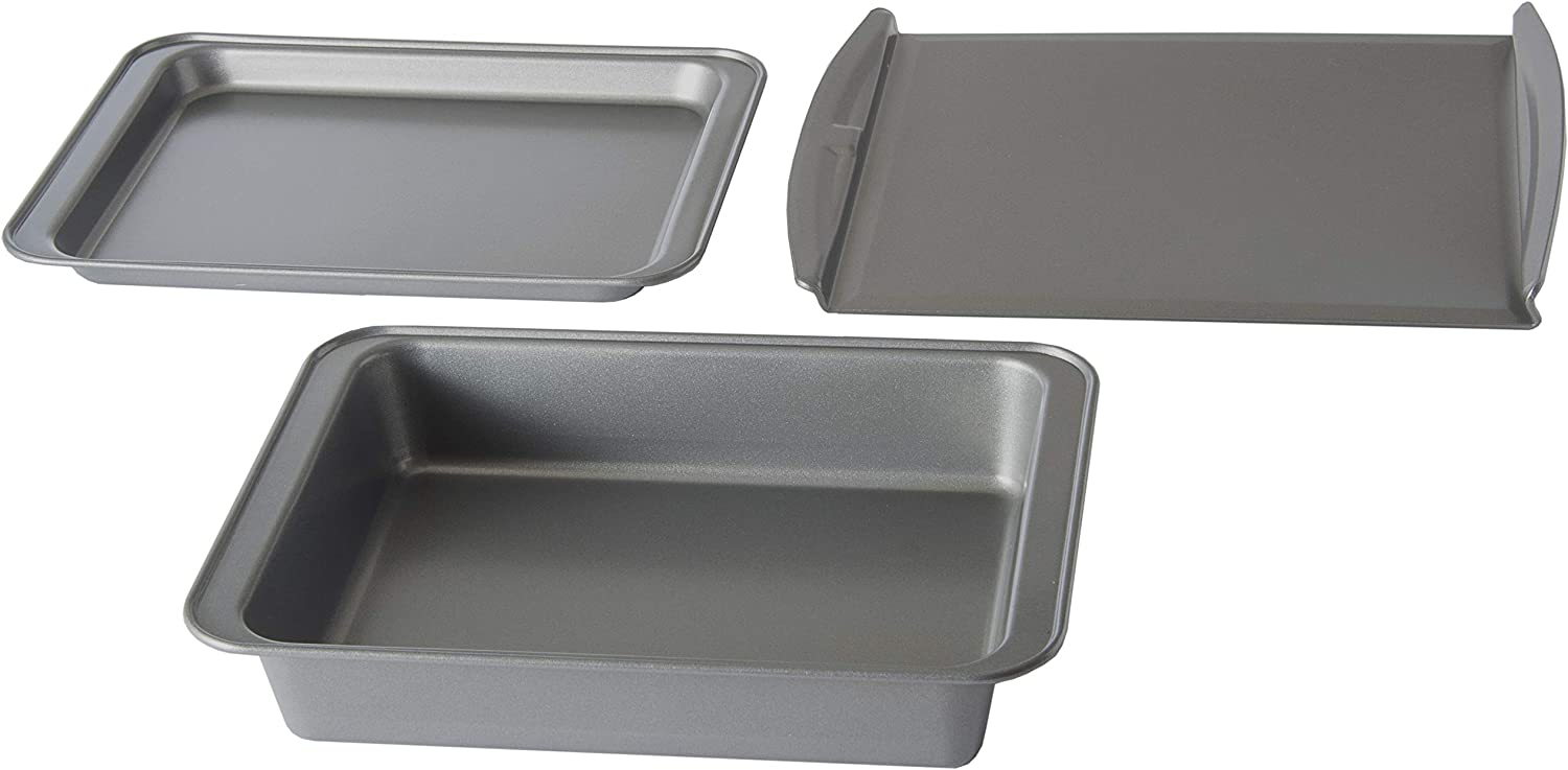 Chef Select Toaster Over 3-Piece Non-Stick Pan Set, Bake, Roast, and Cookie sheet, Perfect for Countertop Ovens!