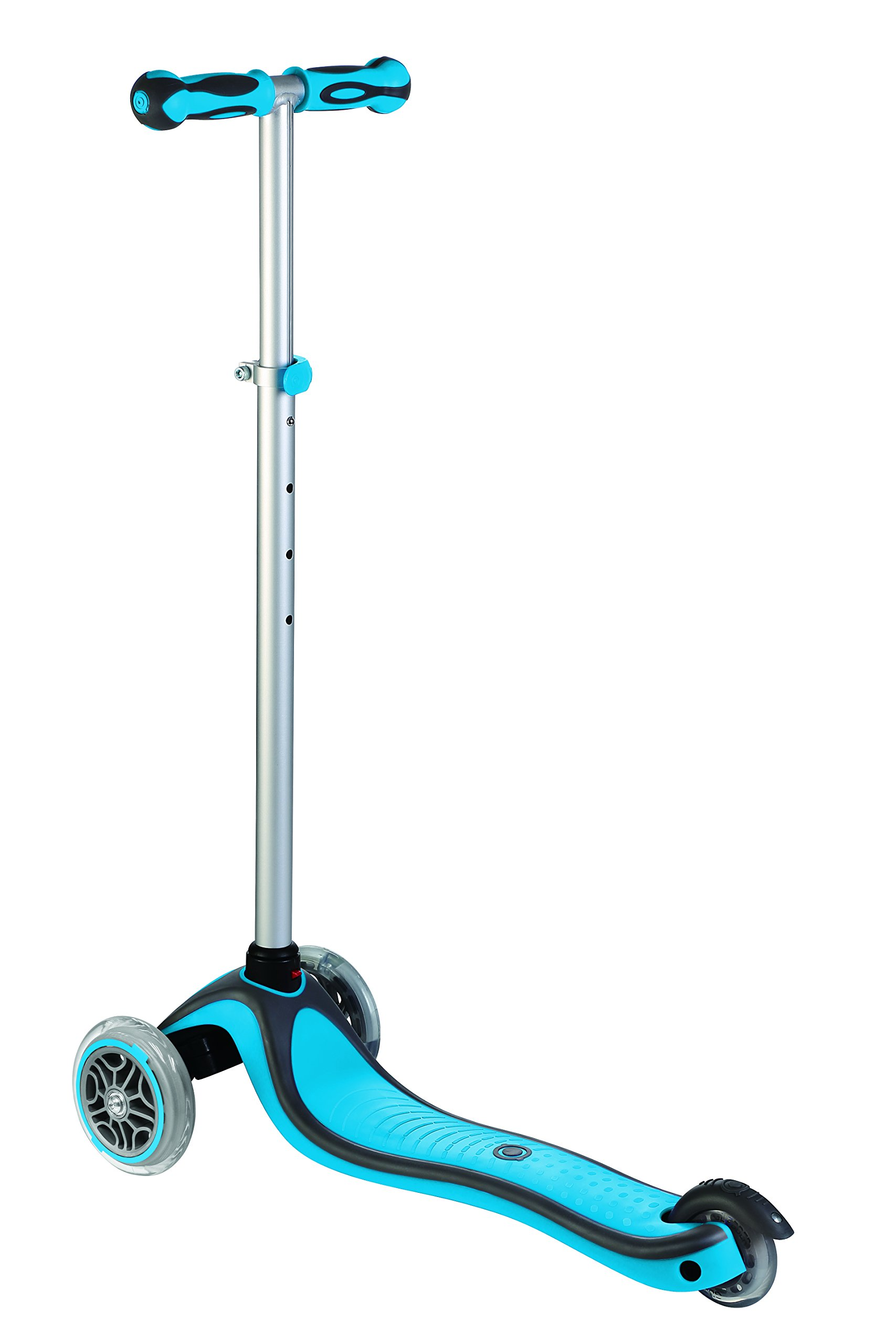 Globber 3 Wheel Adjustable Height Scooter (Light Blue/Gray) by Globber (Image #2)