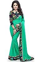 Pramukh Fashion Women's Georgette Saree (Pfs-132,Multicolor,Free Size)