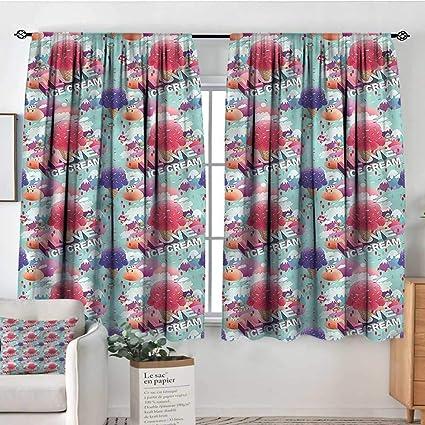Amazon.com: Sanring Ice Cream,Boys Bedroom Backout Curtains Dream ...
