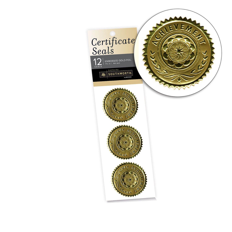 Amazon Southworth Certificate Seals 175 Foil Gold