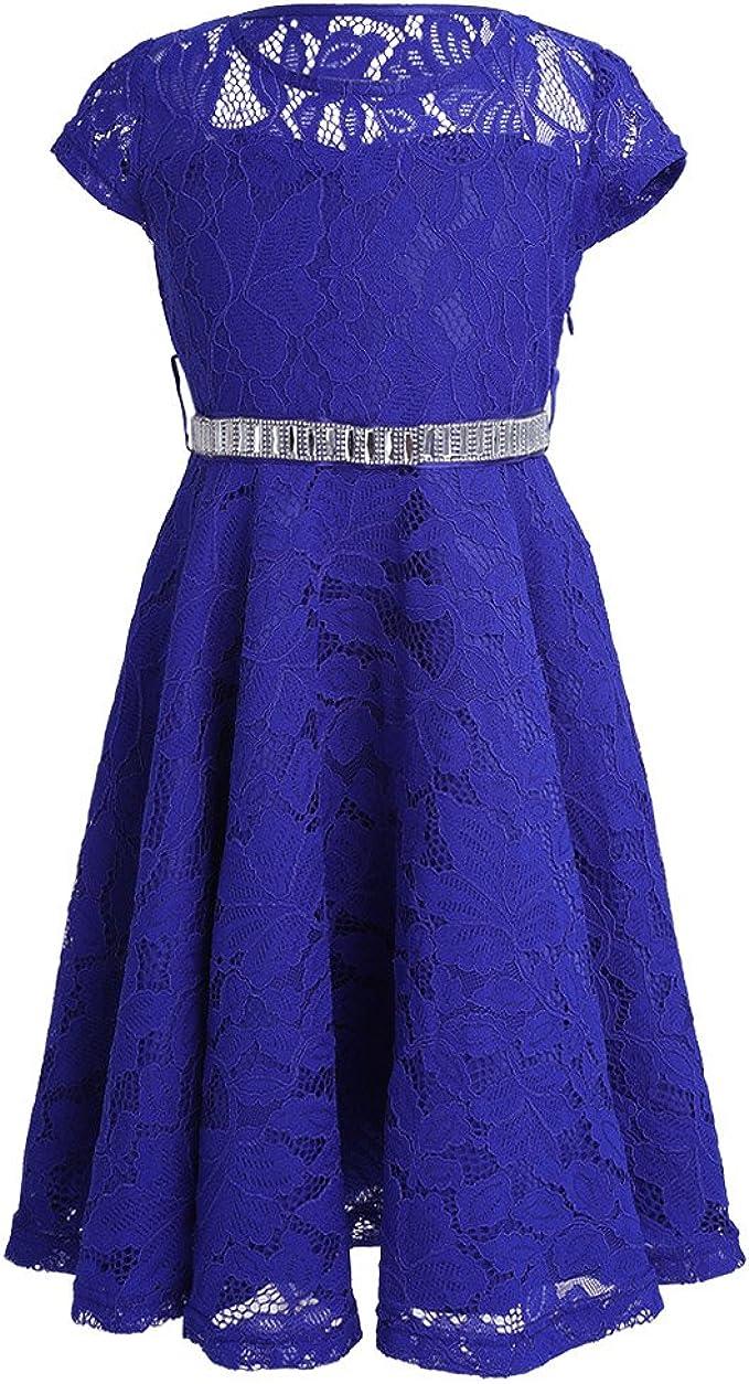 iEFiEL Mädchen Kleid Sommer Spitzen Festliche Kleider Prinzessin Hochzeit  Kinder Kleid für Mädchen 16 16 16 16 16 16