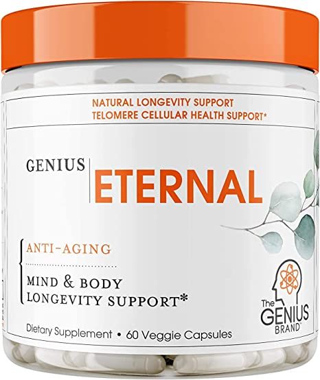 NAD NMN Supplement - Nicotinamide Mononucleotide Anti Aging Telomere Capsules | NRF2 NADH Activator Supplements for Women & Men – Stem Cell Support, Longevity and Cellular Energy – 60 Veggie Pills