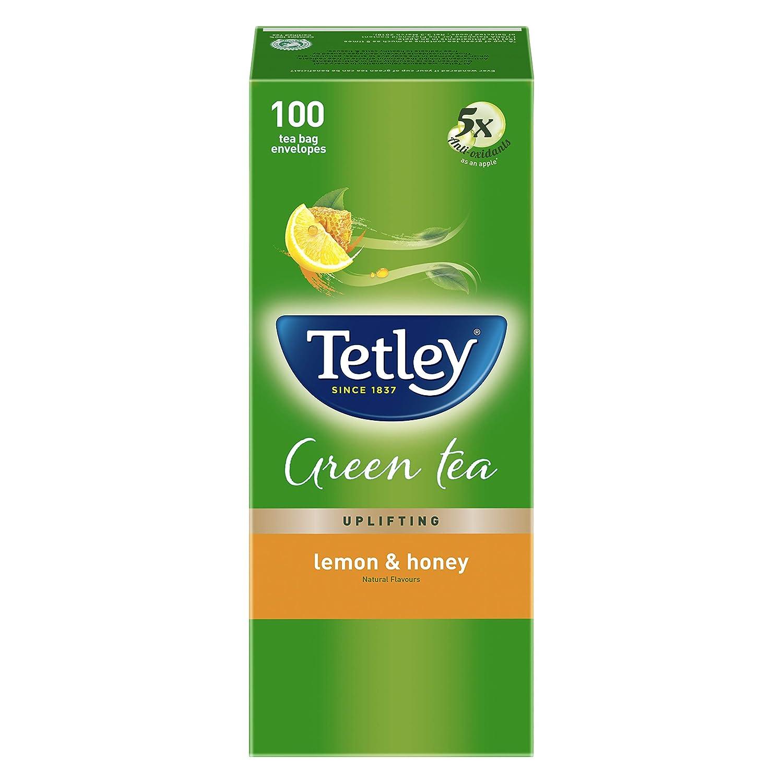 Tetley Green Tea - Lemon and Honey (100 Tea Bags)