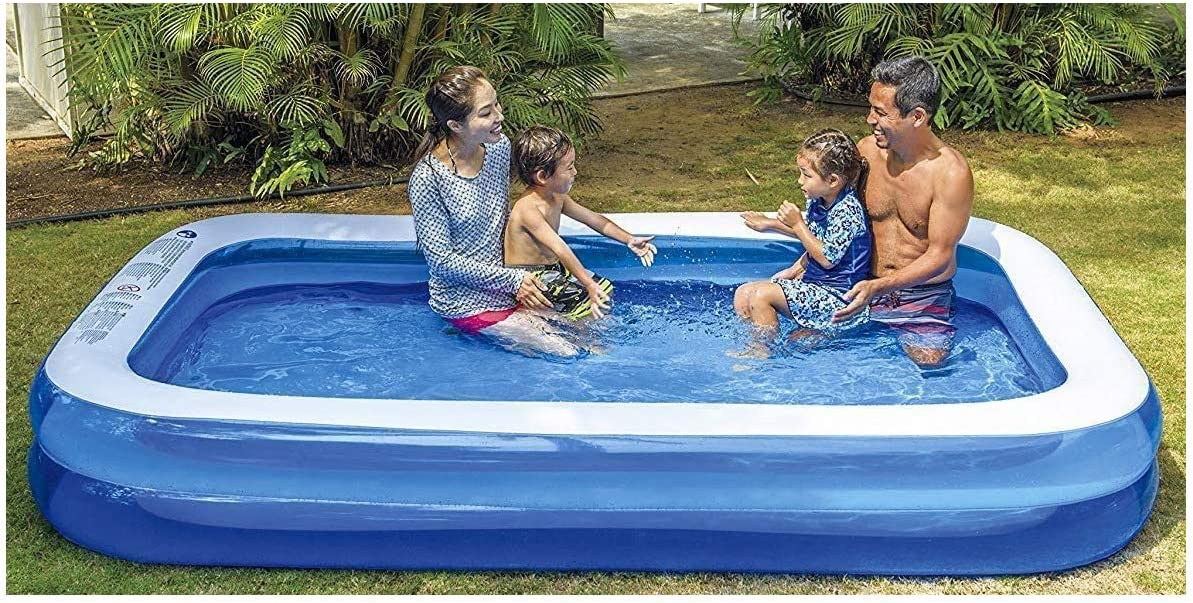 HomestreetUK - Piscina hinchable gigante rectangular de tamaño familiar, tamaño grande, 2 m x 1,5 m x 50 cm