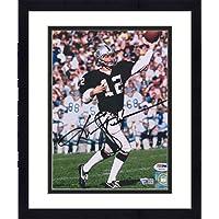 "$183 » Framed Ken Stabler Las Vegas Raiders Autographed 8"" x 10"" Throwing Photograph - PSA/DNA - Fanatics Authentic Certified"