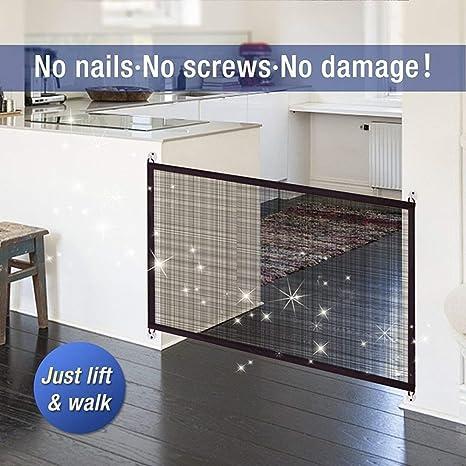Protector de seguridad para mascotas, gatos mágicos para perro, puerta retráctil para perro (