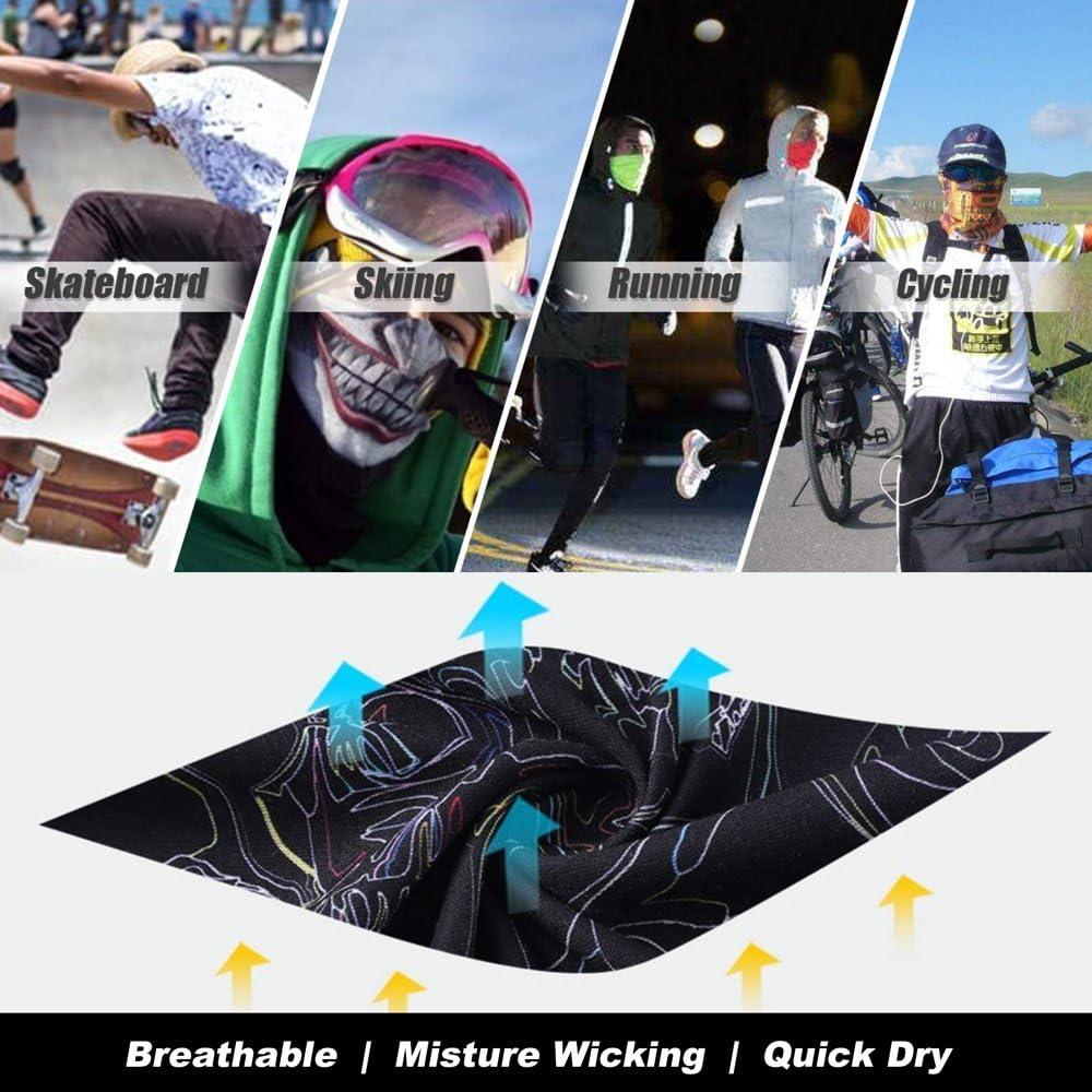 Headwear Magic Scarf Skull Face Sun Mask Neck Gaiter Headband for Fishing,Hunting