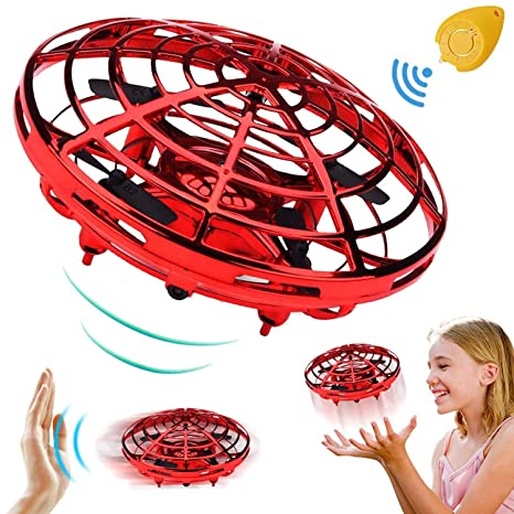 Mini Drone for Kids Adults, Flying Ball Hand Controlled Quadcopter Light Up Flying Toys,