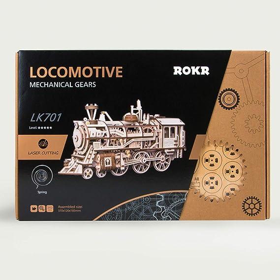Jigsaws Puzzles Genuine Robotime Locomotive Diy 3d Wooden Train