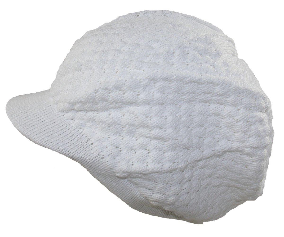 RW Men's Cotton Rasta Beanie Visor (More Colors) (White)