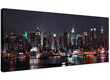 wallfillers cheap canvas prints of the new york skyline at night for