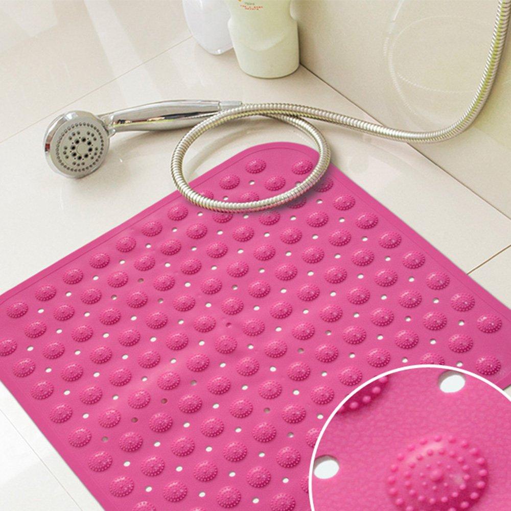 Tappetini da bagno Tappetini antiscivolo Tappetino antisdrucciolo quadrato inodore con pad vasca da bagno Tappetino anti-skid singolo (9 colori opzionale) (dimensioni opzionale) Design moderno HAIZHEN