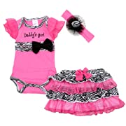 Baby butterfly headdress & Baby Girl's Dress Suits Romper Type YSQH6333 6-9month , Pink