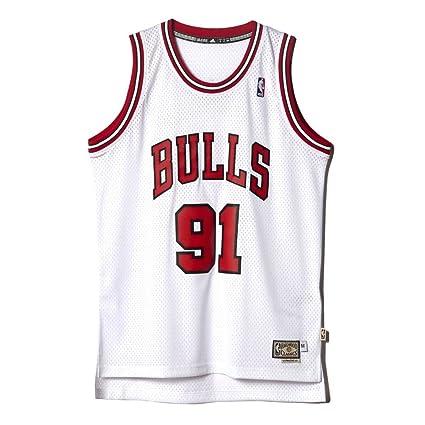 c5e8019acc0db Camisa Regata Adidas NBA Retired Chicago Bulls Nº91 Dennis Rodman ...