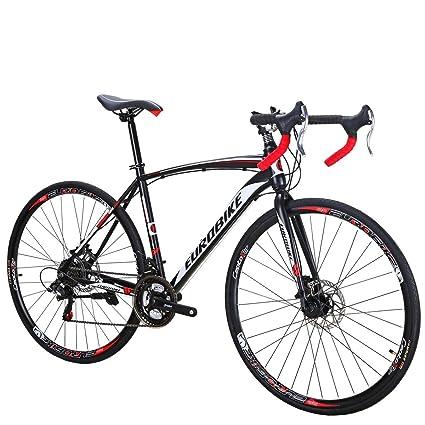 d130941e662 Amazon.com : Eurobike Road Bike TSM550 Bike 21 Speed Dual Disc Brake 700C  Wheels Road Bicycle 49cm Spoke Wheel : Sports & Outdoors