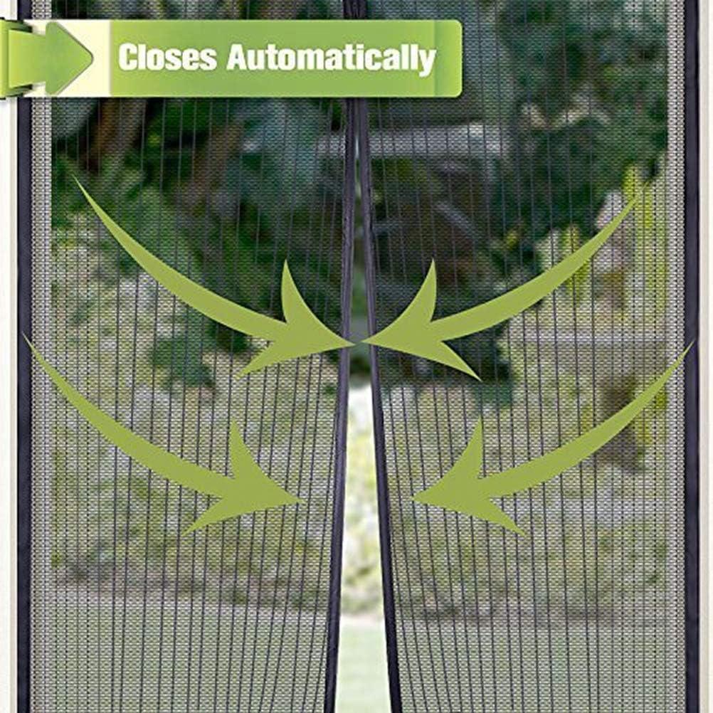 Chenci Mosquito Net Screen Repelente Insectos Im/án Extendido Cortina Gasa Encriptada para Puerta Balc/ón Bodega Puerta,Black,110 210cm XDDXIAO Fly Curtains Fly Door