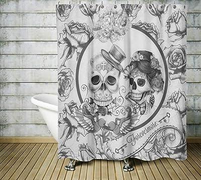 rideau de douche tête de mort 3