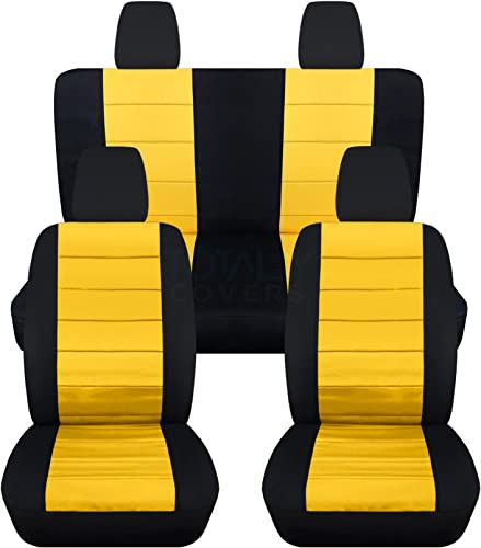 Totally Covers Compatible with 2011-2018 Jeep Wrangler JK Seat Covers
