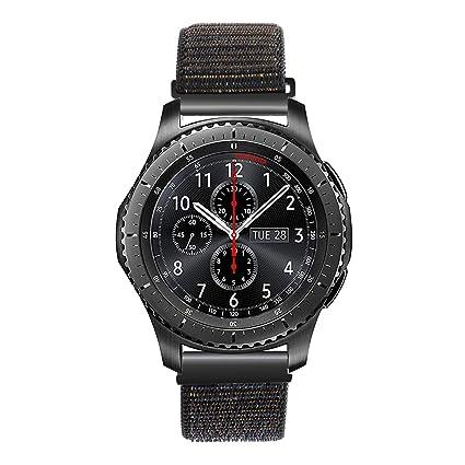 TRUMiRR 22mm Hook & Loop Correa de Reloj de Nylon con Correa de liberación rápida para Samsung Gear S3 Classic Frontier, Gear 2 Neo Live, ASUS ...