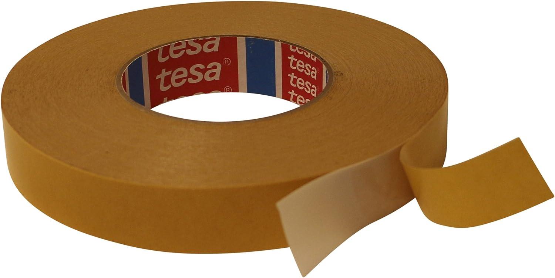 Blanco fuerte y permanente Cinta adhesiva de doble cara de PVC para montaje fijar 50 m en rollo Tesa 4970 para montar ancho a elegir fijar