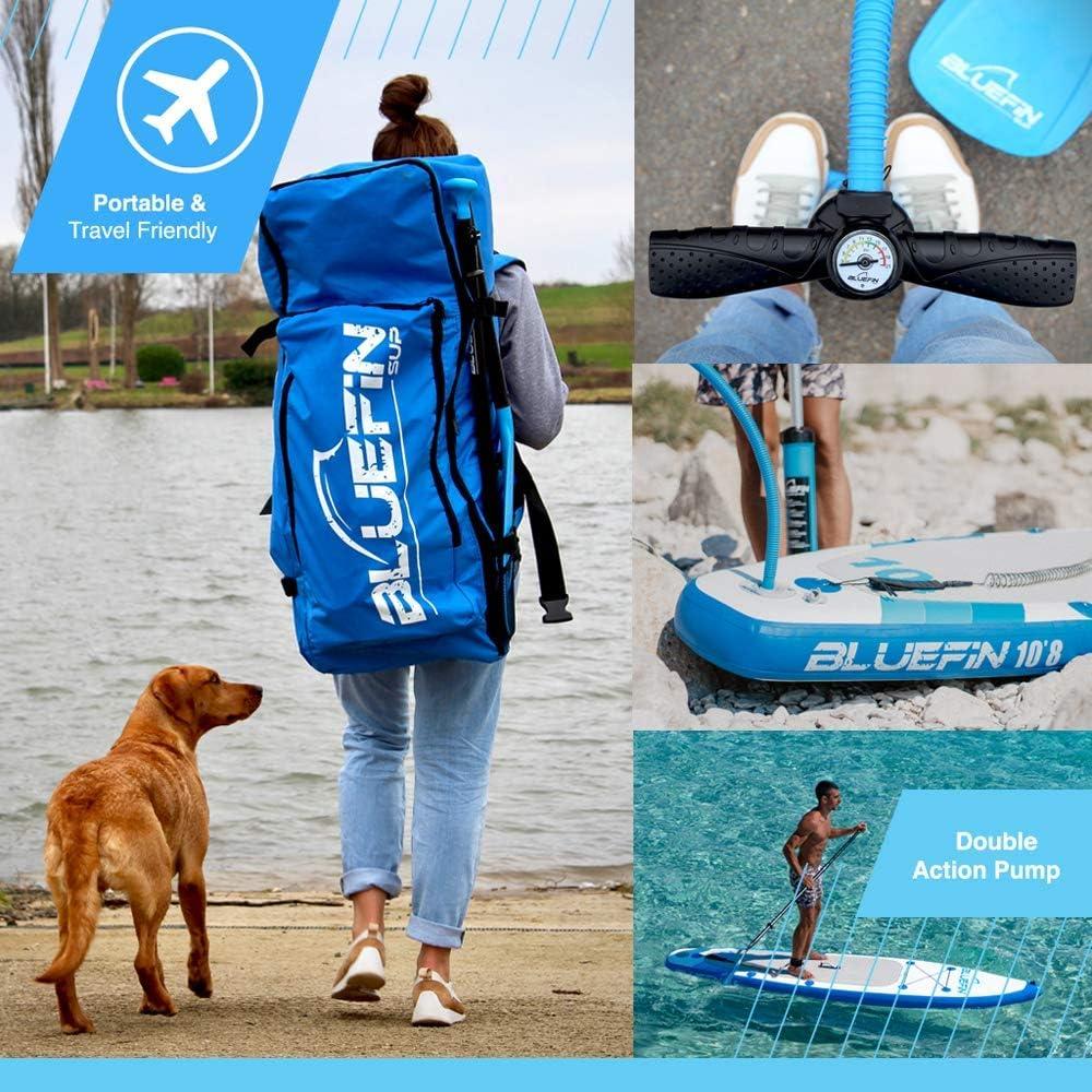 Accesorios Completos Tabla de Paddle Surf Hinchable 15/' Kit de Conversi/ón a Kayak Paquete de Sup Bluefin Cruise Varias Medidas: 10/'8 12/' Remo de Fibra de Vidrio 5 A/ños de Garant/ía
