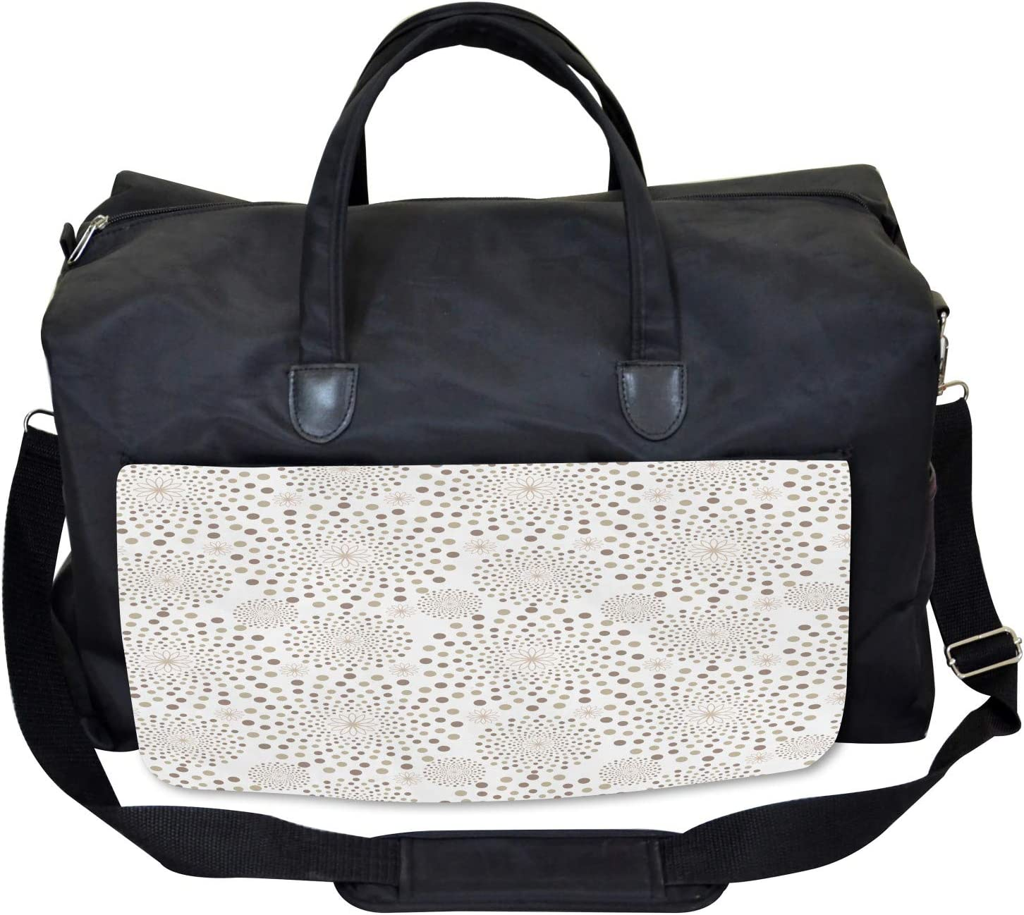 Nostalgia Circles Dots Ambesonne Floral Gym Bag Large Weekender Carry-on