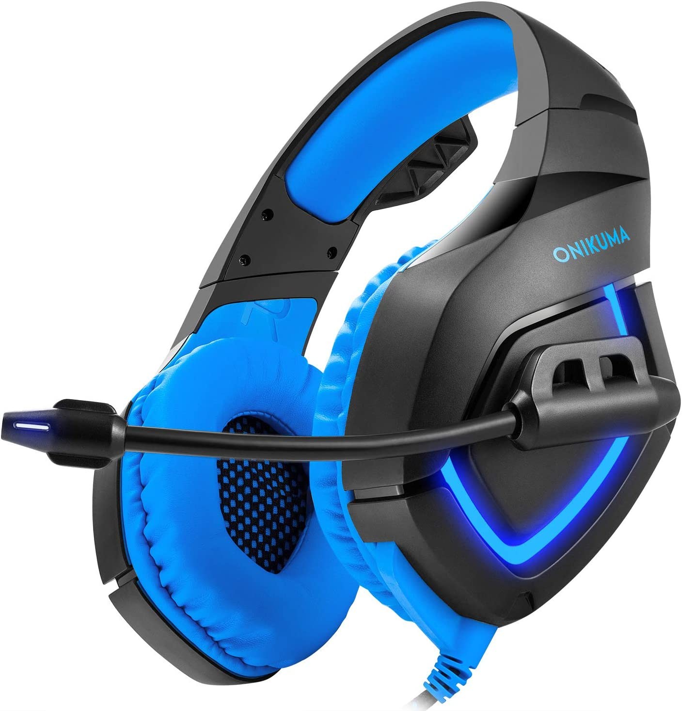 LOLOP Gaming Headset Headset Computer E-Sports Headphones Glowing Headphones,Red