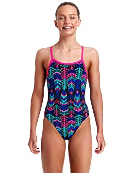 aef86cd90fe Funkita Girls Feather Duster Single Strap Swimsuit: Amazon.co.uk ...