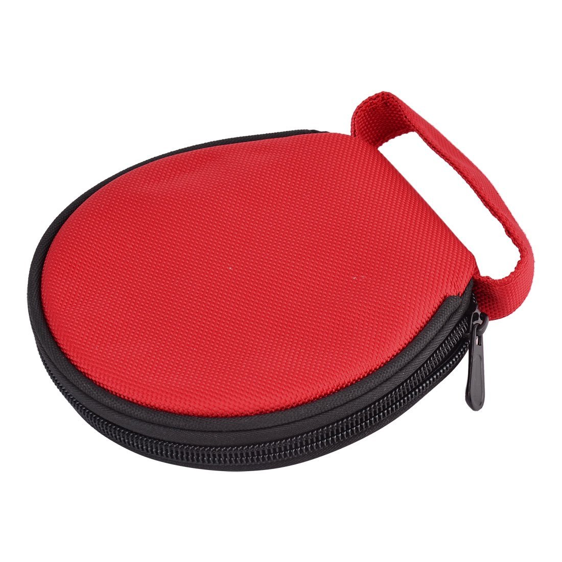 EbuyChX Nylon Home Car Hand Carry Zipper Storage Round Case CD Holder Bag 20 Discs Capacity Red
