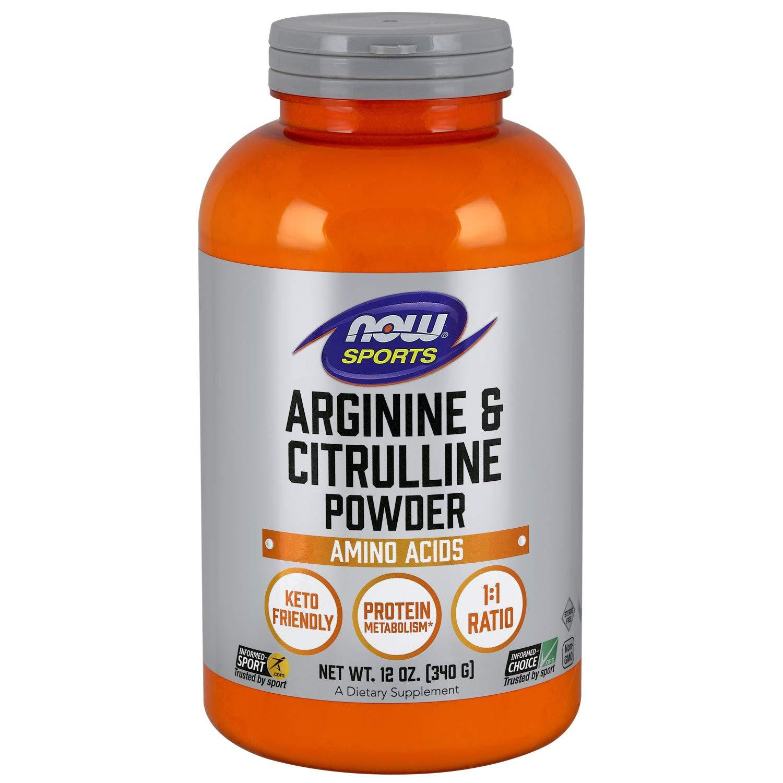 Now Sports Nutrition, Arginine & Citrulline Powder, 12-Ounce