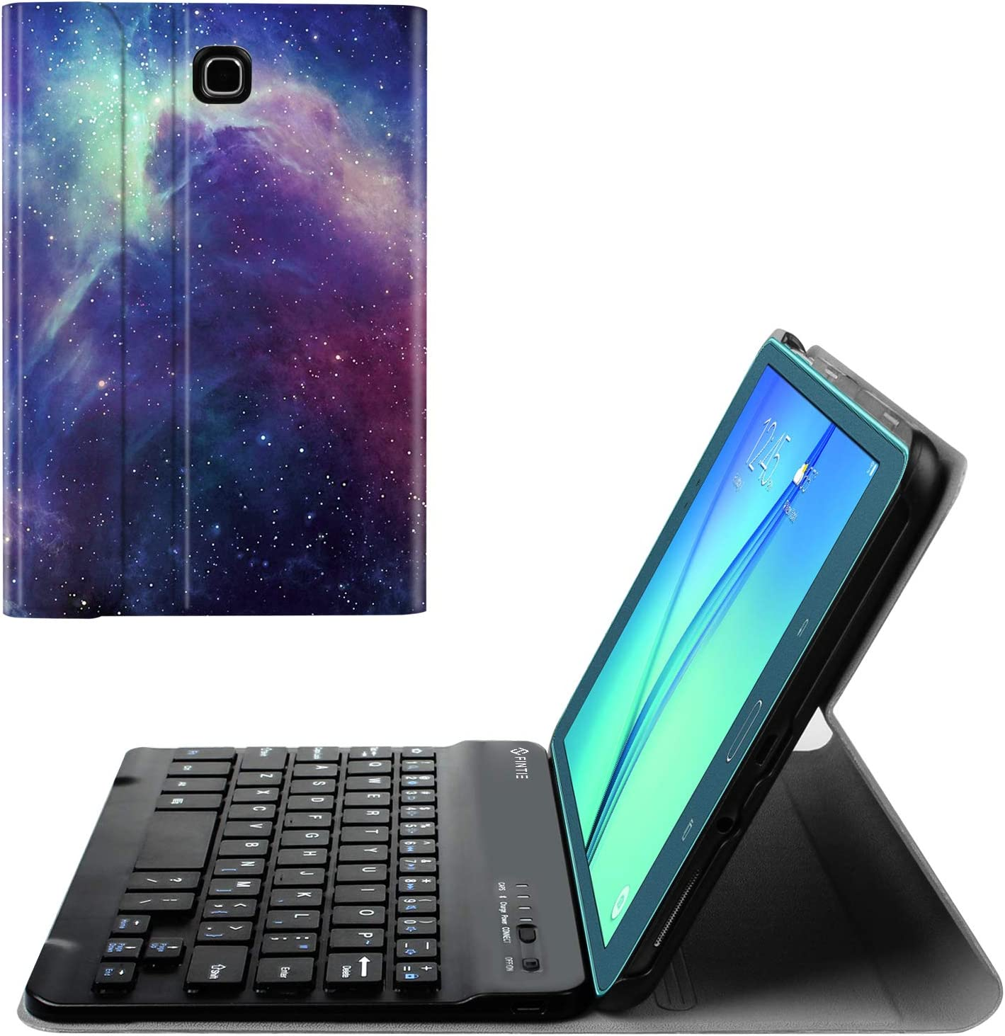 Fintie Keyboard Case for Samsung Galaxy Tab A 8.0 (2015), Slim Shell Stand Cover w/Magnetically Detachable Bluetooth Keyboard for Tab A 8.0 SM-T350/P350 2015 (NOT Fit 2017/2018 Version), Galaxy