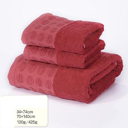 Toallas toallas Toalla de baño Suave 1 2 Toalla de Fibra de teñido de Hierba Toalla ...