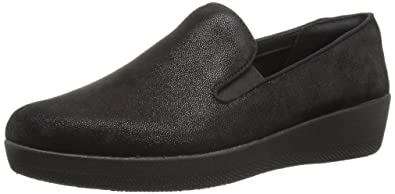 3fb132f6c19d9 FitFlop Women s Superskate Loafer Flat All Black 6 ...