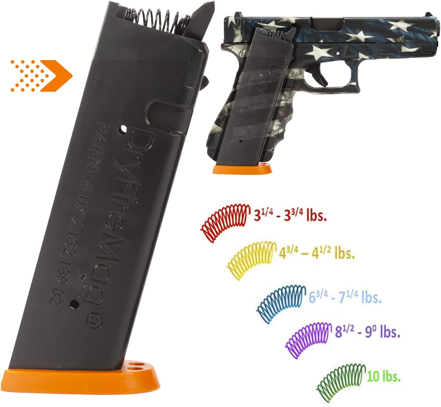 Amazon Com Dryfiremag Training Magazine With Spring Pak For Glock 9 40 357 45 G A P Dry Fire Training With Audible Tactile Simulation Safe For Use At Home And Uses No Ammo Sports Outdoors