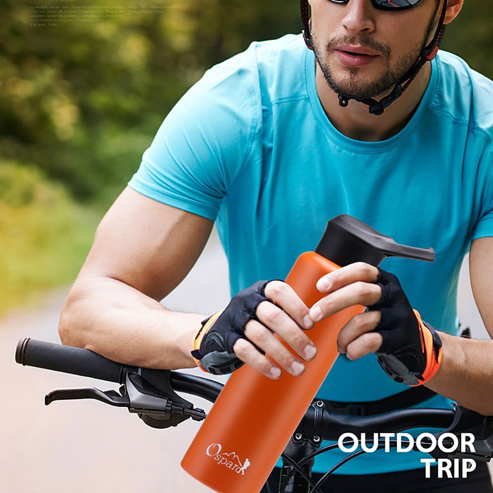 OSPARD Double Wall Vacuum Insulated Stainless Steel Leak Proof Sports Water Bottle